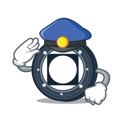 Police byteball bytes coin character cartoon vector