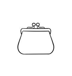 Purse hand drawn sketch icon vector