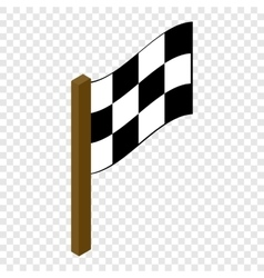 Racing flag isometric 3d icon vector