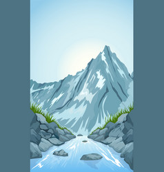 River in mountains vector