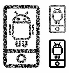 Robot communicator composition icon trembly vector