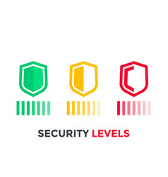 Security levels icons on white vector