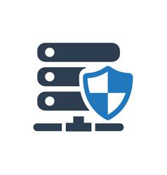 Server security icon vector