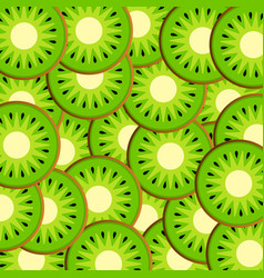 slices of kiwi vector image