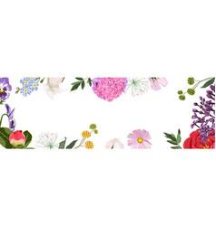 spring sale background banner frame vector image
