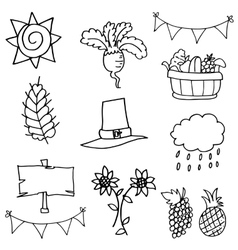 Stock collection thanksgiving element doodles vector image
