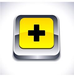 Switzerland 3d button vector