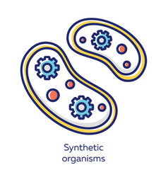 Synthetic organisms white color icon engineering vector