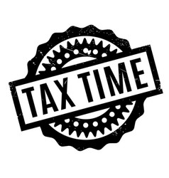 Tax time rubber stamp vector