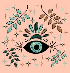 Third eye concept meditation vision of vector