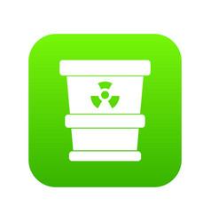 trashcan containing radioactive waste icon digital vector image