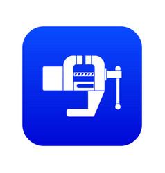 Vise tool icon digital blue vector