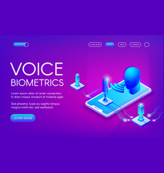 Voice biometrics technology vector
