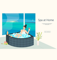 Website for home spa vector