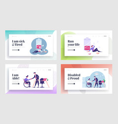 Working overload disabled employment website vector