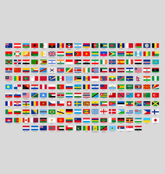 world national flags official country signs vector image