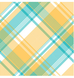 Yellow blue lite color pixel plaid seamless vector