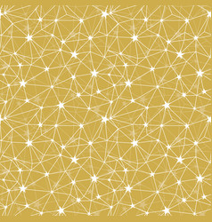 Yellow stars network seamless pattern vector
