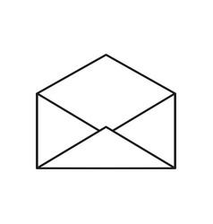 envelope open icon vector image