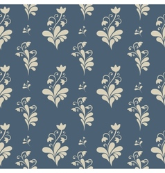 Floral ornate seamless pattern vector image