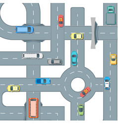 road and cars background pattern vector image vector image