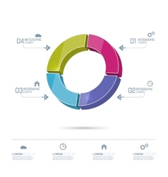 Round colorful chart divided into sectors vector image vector image
