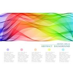 Wavy abstract bacground vector image