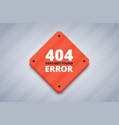 404 error page for website page not found error vector image