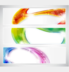 abstract colorful vecter header set vector image vector image