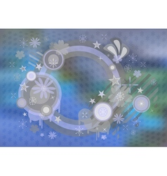 Abstract frame with background vector image vector image