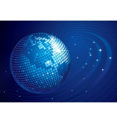 Disco globe vector image vector image