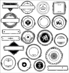empty grunge rebber stamps - set vector image