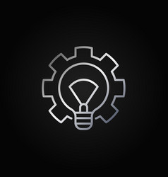 light bulb with gear silver icon vector image vector image