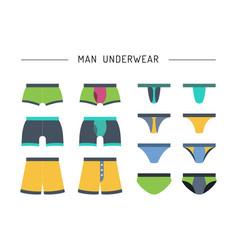 men underwear clothing vector image vector image