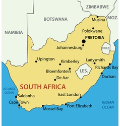 Republic of South Africa - map vector image
