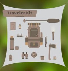 Traveler Kit vector image vector image