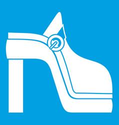 women shoe icon white vector image