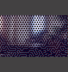 abstract maze pattern background with waves vector image