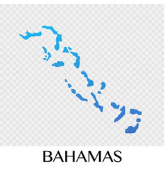 bahamas map in north america continent design vector image vector image