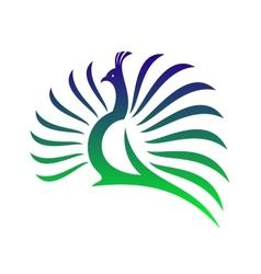 Beautiful stylised peacock vector image