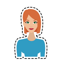 happy young woman icon image vector image