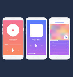 mobile app music player set different variations vector image vector image