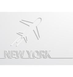 modern new york capital background vector image