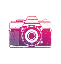 retro camera old analog slr over white vector image vector image