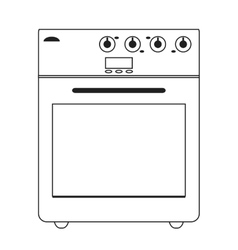 stove oven icon vector image vector image