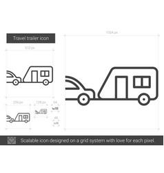 travel trailer line icon vector image