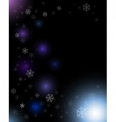 winter dark abstract composition vector image