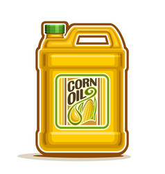 big yellow plastic bottle with corn oil vector image