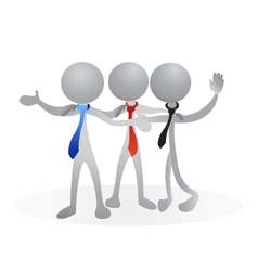 Friends social media people logo vector image vector image