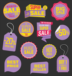 sale stickers and tags collection 5 vector image vector image